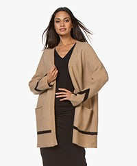 By Malene Birger Retzia Open Alpaca Blend Cardigan - Tiger Eye