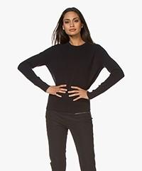 Filippa K Cashmere R-neck Sweater - Navy