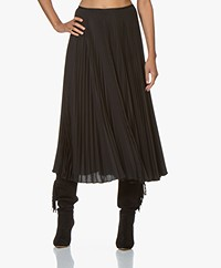 Joseph Abbot Pleated Midi Skirt - Black