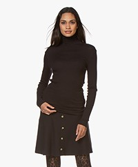 Filippa K Shima Polo Neck Top - Charcoal