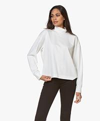 Drykorn Femke Lyocell Colshirt - Off-white