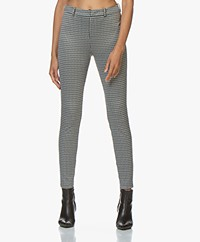 Drykorn Winch Checkered Skinny Pants - Grey