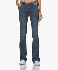 by-bar Leila Long Flared Jeans - Mid Blue Denim