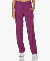 Drykorn Gorgeous Flannel Pants with Wide Legs - Violet
