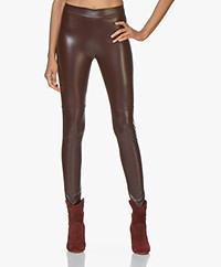 Wolford Estella Faux Leather Legging - Chateau