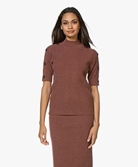 Repeat Cashmere Short Sleeve Sweater - Terra
