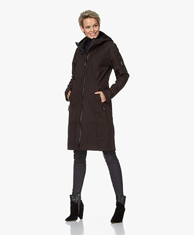 Ilse Jacobsen RAIN37L Long Softshell Raincoat - Black