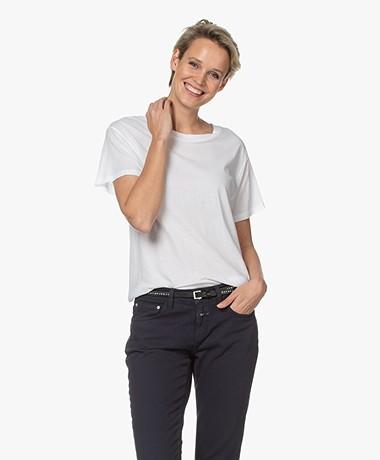 Closed Slub Jersey A-lijn T-shirt - Wit