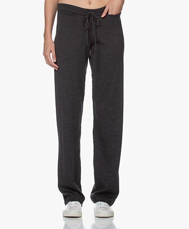Sibin/Linnebjerg Tillie Merino Knitted Pants - Anthracite