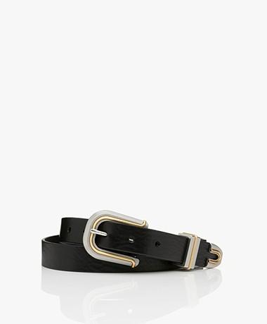 Rag & Bone Ventura Leather Belt - Black