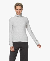 American Vintage Damsville Wool Blend Turtleneck Sweater - Lichtgrijs