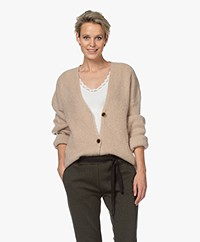 by-bar Soof Mohair Blend Buttoned Cardigan - Sand