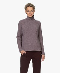 Zadig & Voltaire Dine Recycled Cashmere Coltrui - Violet