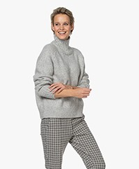 Closed Baby Alpaca Blend Turtleneck Sweater - Light Grey