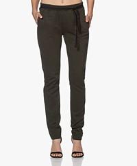 by-bar Jette Tweed Jersey Sweatpants - Dark Green/Black