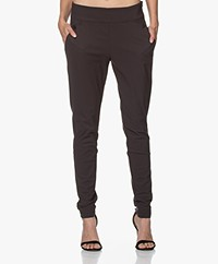 Woman By Earn Amber Tech Jersey Pants - Dark Brown