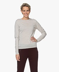 by-bar Lisa Fine Knitted Merino Pullover - Light Greige