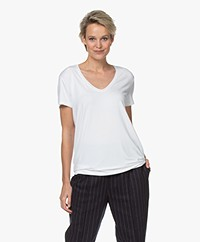 By Malene Birger Fevia Viscose T-shirt - Wit