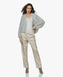 Closed Milla Satijnen Loose-fit Pantalon - Sandy