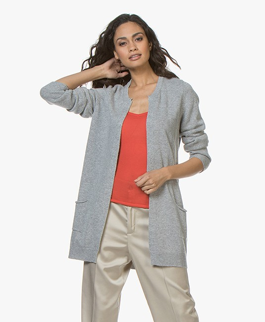 Resort Finest Nobile Cardigan in Cashmere Blend - Grey