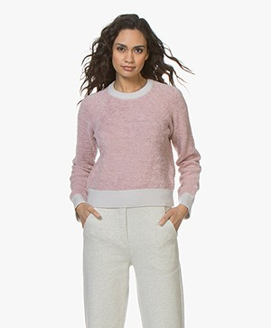 Rag & Bone Valerie Crew Chenille Sweater - Blush