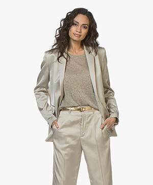Closed Alby Satijnen Blazer - Sandy