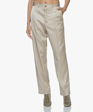 Closed Milla Satijnen Loose-fit Pantalon - Sandy