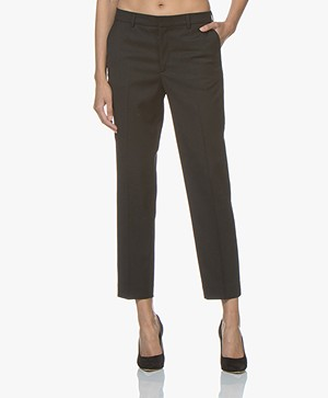 Filippa K Emma Cropped Twill Pants - Black