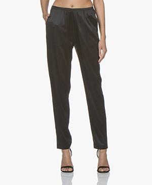Filippa K Silk Satin Pyjama Broek - Zwart