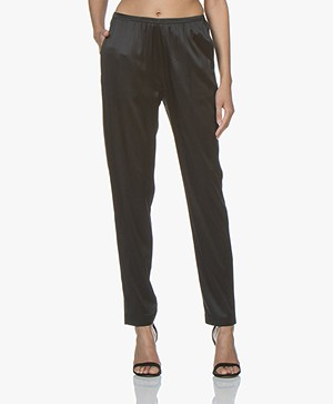 Filippa K Soft Sport Silk Satin Pyjama Broek - Zwart