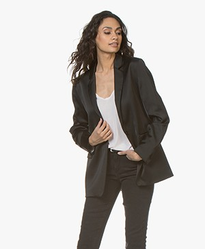 Closed Alby Satin Blazer - Black