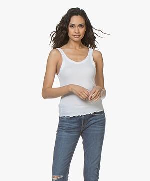 ANINE BING Karlie Modal Ribbed Jersey Tank Top - White
