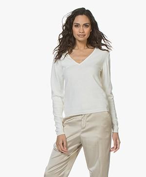 Resort Finest Via V-hals Pullover - Off-white