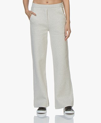 By Malene Birger Veunni Wide Leg Sweatpants - Light Grey Melange