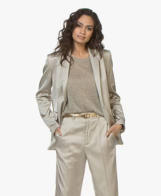 Closed Alby Satin Blazer - Sandy