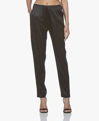 Filippa K Soft Sport Silk Satin Pyjama Pants - Black