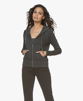 James Perse Classic Zip Hoodie - Carbon