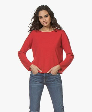 no man's land Wool and Cashmere Pullover - Scarlet