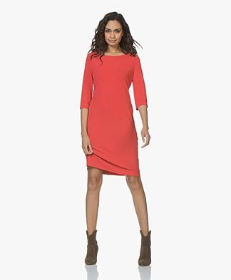 no man's land Crepe Jersey Dress - Scarlet