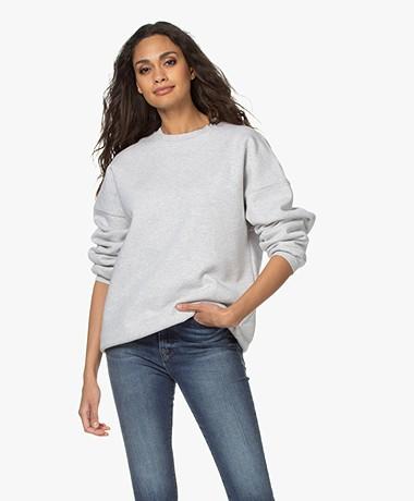 American Vintage Baetown Oversized Sweater - Lichtgrijs Mêlee