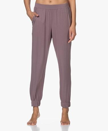 Calvin Klein Modal Jersey Lounge Pants - Plum Dust