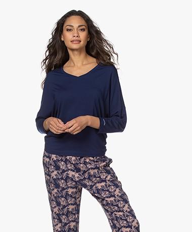 Calvin Klein Modal V-hals Pyjamatop - New Navy