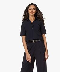 JapanTKY Hyn Travel Jersey Polo T-shirt - Zwartblauw