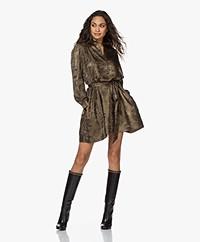 Zadig & Voltaire Retouch Lurex Mini Dress - Gold