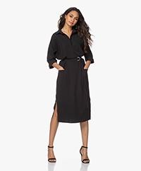 JapanTKY Maeko Travel Jersey Midi Dress - Deep Black