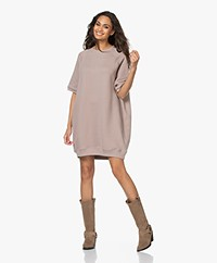 American Vintage Ikatown French Terry Sweater Dress - Taupe