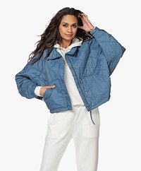 Closed Eve Quilted Puffer Jacket - Commodore Blue