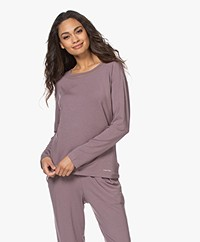 Calvin Klein Modal Jersey Lounge Long Sleeve - Plum Dust