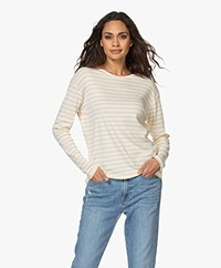 Closed Striped Modal Blend Long Sleeve - Cashew Nut
