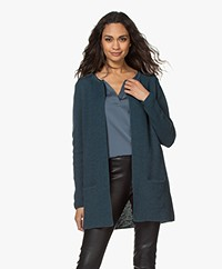 Sibin/Linnebjerg Mary Short Cardigan in Merino Blend - Petrol